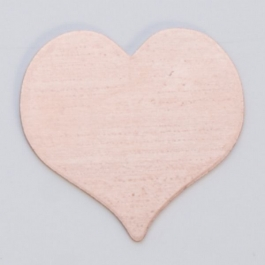 Copper Heart, 24 Gauge, 13/16 by 7/8 Inch, Pack of 6