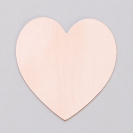 "COPPER 24ga - 1-3/8"" x 1-1/2"" LARGE HEART - Pack of 6"
