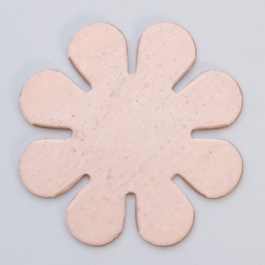 Copper 8-Petal Flower, 24 Gauge, 15/16 Inch, Pack of 6
