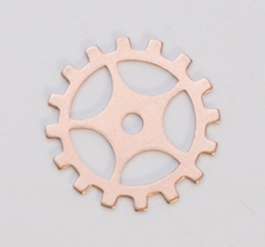 Copper Gear with Spokes, 24 Gauge, 3/4 Inch, Pack of 6