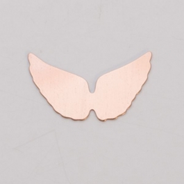 COPPER 24ga - ANGEL WINGS - Pack of 6