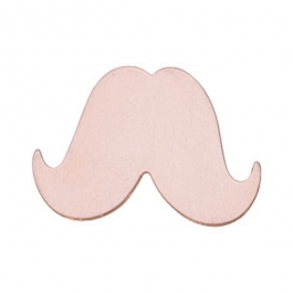 COPPER 24ga - LARGE MUSTACHE - Pack of 6