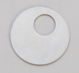 Nickel Silver Washer, 24 Gauge, 7/8 Inch, Pack of 6