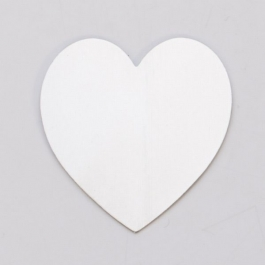 "NICKEL SILVER 24ga - 1-3/8"" x 1-1/2"" LARGE HEART - Pack of 6"