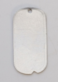 Nickel Silver Dog Tag with Hole, 24 Gauge, 1 by 1/2 Inch, Pack of 6