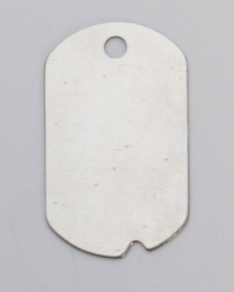 Nickel Silver Dog Tag with Hole, 24 Gauge, 1-1/4 by 3/4 Inch, Pack of 6