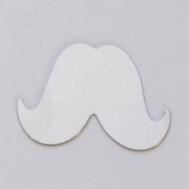NICKEL SILVER - 24ga - LARGE MUSTACHE - Pack of 6