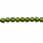 5-6mm Dark Green Freshwater Potato Pearls Large 1.2mm Hole - 16 Inch Strand