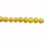 5-6mm Yellow Freshwater Potato Pearls Large 1.2mm Hole - 16 Inch Strand