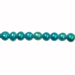 5-6mm Blue Freshwater Potato Pearls Large 1.2mm Hole - 16 Inch Strand