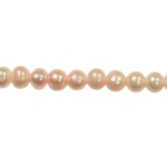 5-6mm Pink Freshwater Potato Pearls Large 1.2mm Hole - 16 Inch Strand