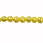 8-9mm Yellow Freshwater Potato Pearls Large 2mm Hole - 16 Inch Strand
