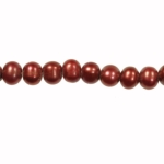 8-9mm Red Freshwater Potato Pearls Large 2mm Hole - 16 Inch Strand
