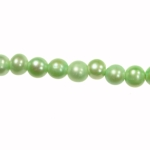 8-9mm Green Freshwater Potato Pearls Large 2mm Hole - 16 Inch Strand