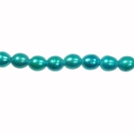 9x8mm Blue Freshwater Rice Pearls Large 2mm Hole - 16 Inch Strand