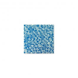 "Lillypilly - Blue Circles - 3x3"" Sheet"