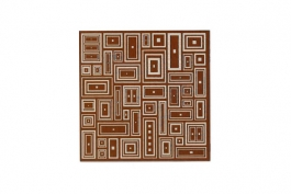 "Lillypilly - Mod Brown - 3x3"" Sheet"