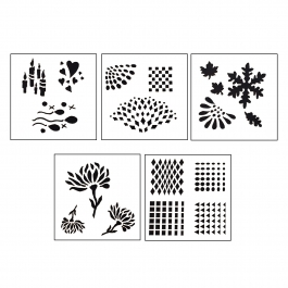 Design Stencils - Reflections - 5 Pieces