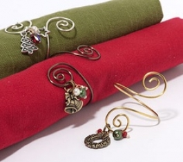 Holiday Napkin Ring Kit - Silver Charms