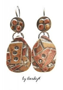 Fused Tri-metal Earrings with Earwire Taught By: Dale Koebnick