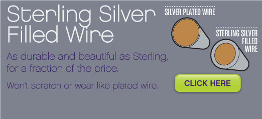 Sterling Silver Filled Wire: looks and works like sterling, at a fraction of the price: Shop now