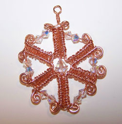 Wire and Crystal Snowflake