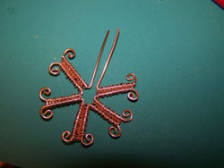 Wire and Crystal Snowflake Instructions Step 3