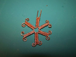 Wire and Crystal Snowflake Instructions Step 4