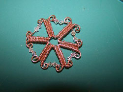 Wire and Crystal Snowflake Instructions Step 9