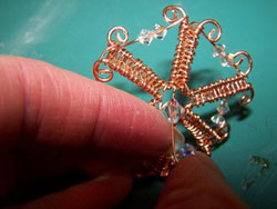 Wire and Crystal Snowflake Instructions Step 10