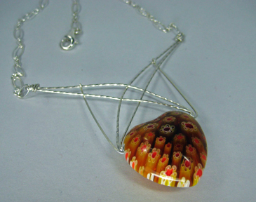 Webbed Heart Necklace: Wire Jewelry | Wire Wrap Tutorials