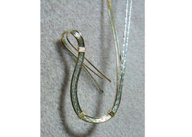 Free Form Wire Wrapped Pendant