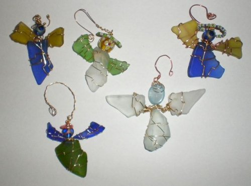 Wire Wrapped Angel Ornaments