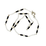 Pearl and Black Onyx Necklace