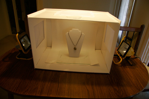 Take Photos of your Wire Jewelry using a Lightbox Part 1 Jewelry