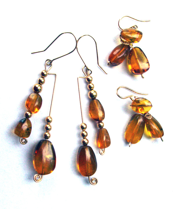Baltic Amber Earrings by Dale Cougar Armstrong