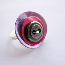 Button Ring by Albina Mannng