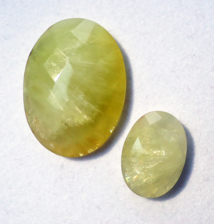 gemstone faceted list prehnite the