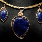 Custom-designed and created in 14kt solid gold for George McCannon, owner of The Old Pressley Sapphire Mine, by Dale Cougar Armstrong.