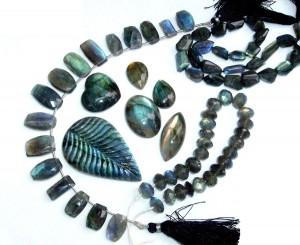 Labradorite Beads and Cabochons
