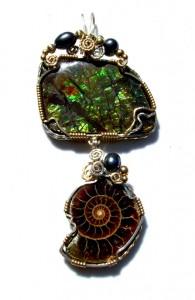 Ammonite and ammolite