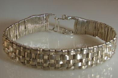 argentium-wire-woven-bracelet
