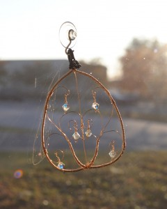 wire wrapped suncatcher
