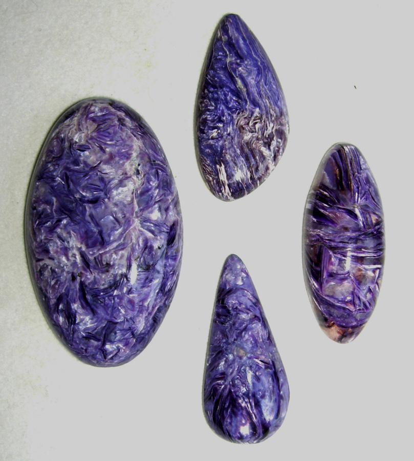 Size-25X25x5.50 MM Natural Charoite Natural Charoite Cabochon Beautiful Designer Gem Stone of Jewellery Making Round Shape 29.50 Crts