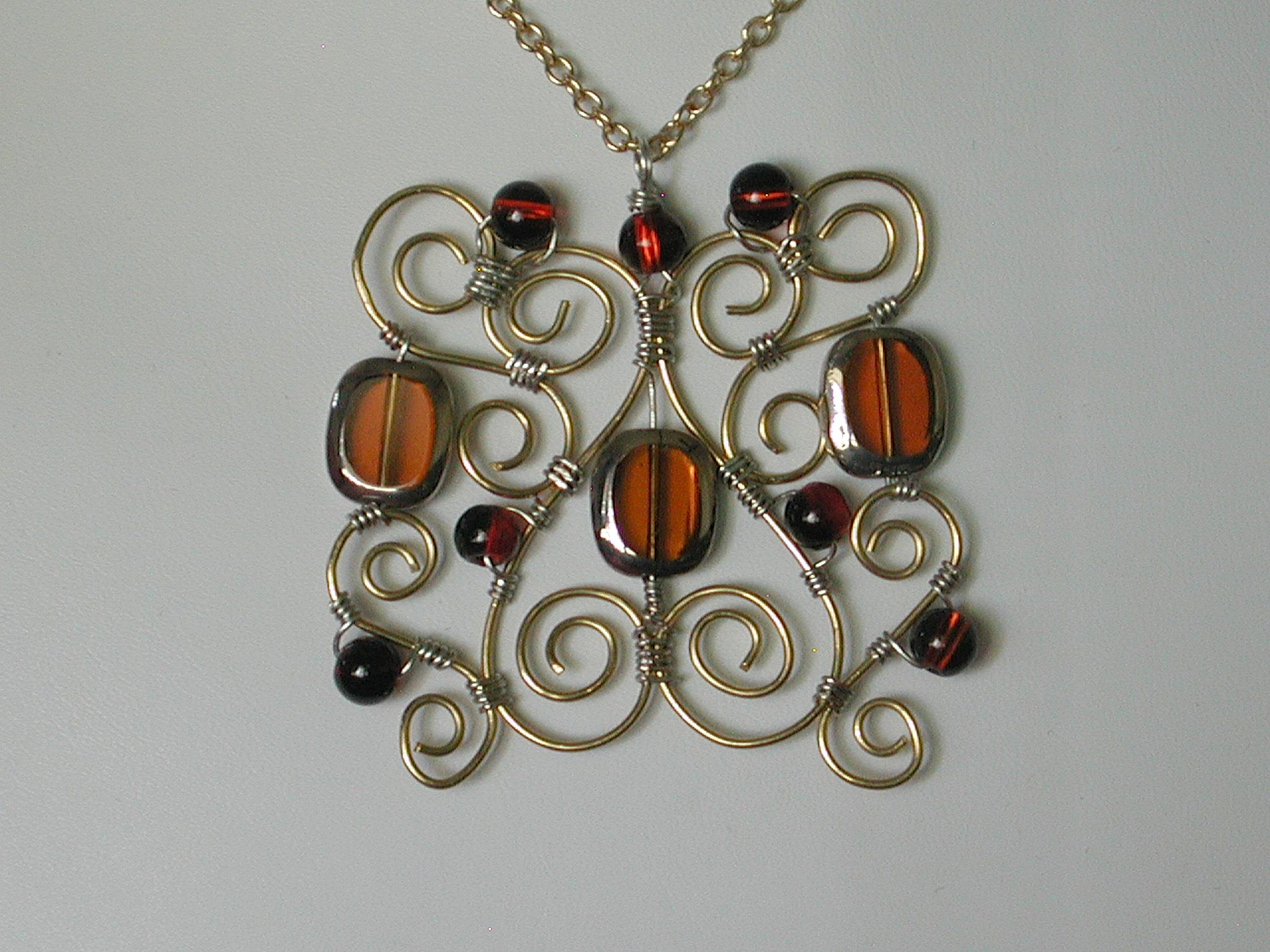 Crocheted Wire Jewelry | Designs By Dawn Marie - Bead Embroidered