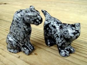 Snowflake obsidian carvings