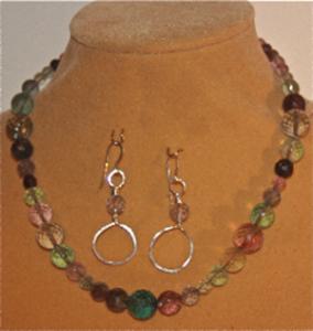 Fluorite jewelry set