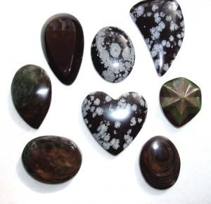 Obsidian Cabochons
