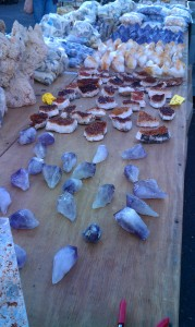 Amethyst and citrine at Tucson gem Shows
