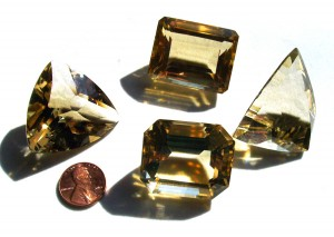 heat-treated cut citrine